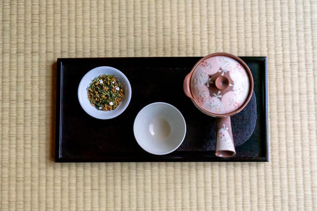 若草園の特上玄米茶の入れ方