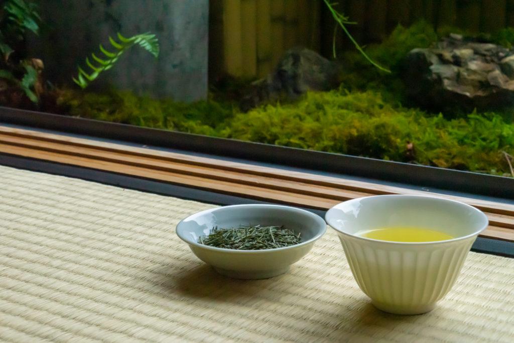 煎茶と茶葉