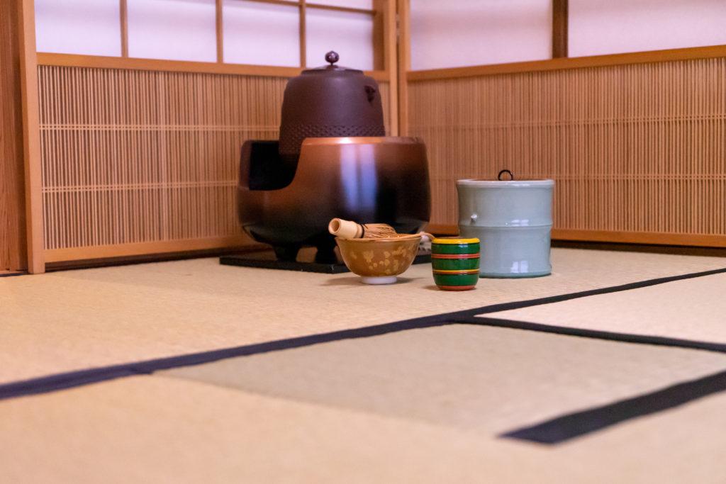 若草園の茶室と茶道具