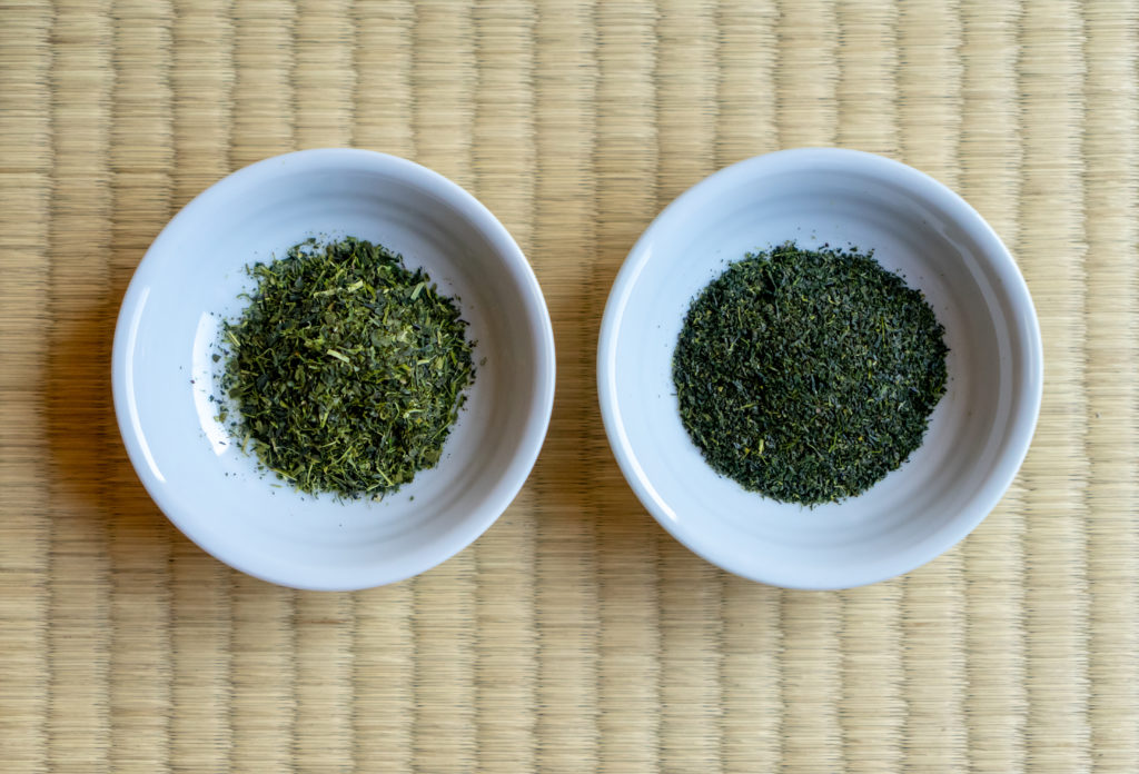 粉茶と芽茶